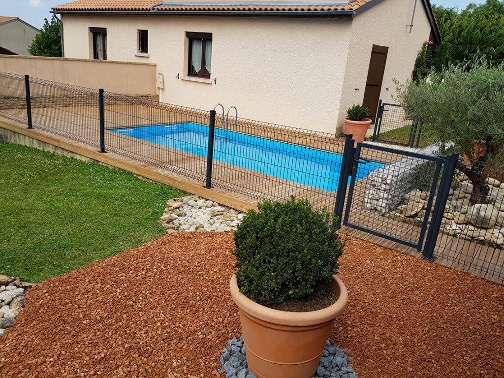 clôture de sécurite pour piscine