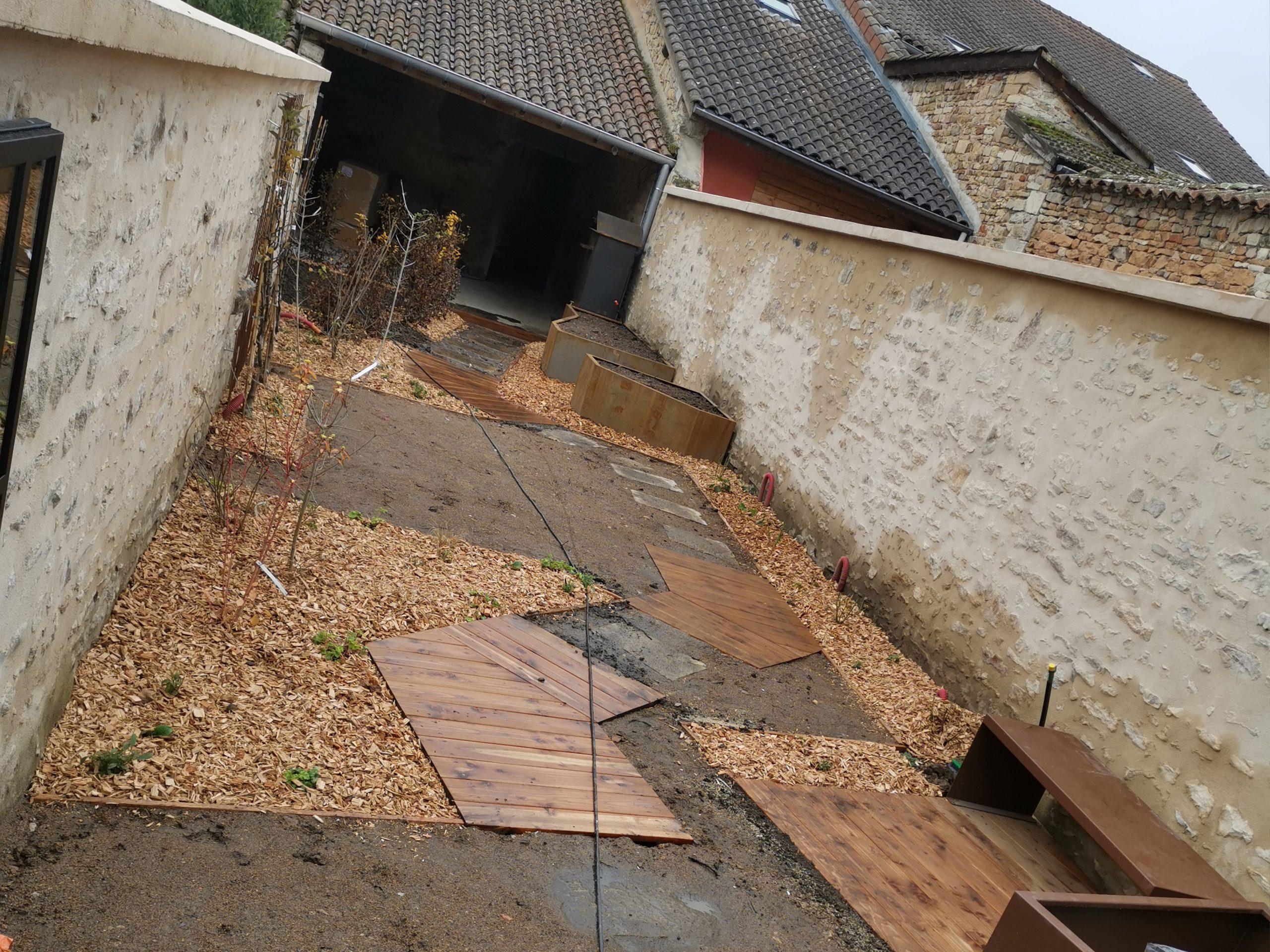 création de jardin avec allée 3