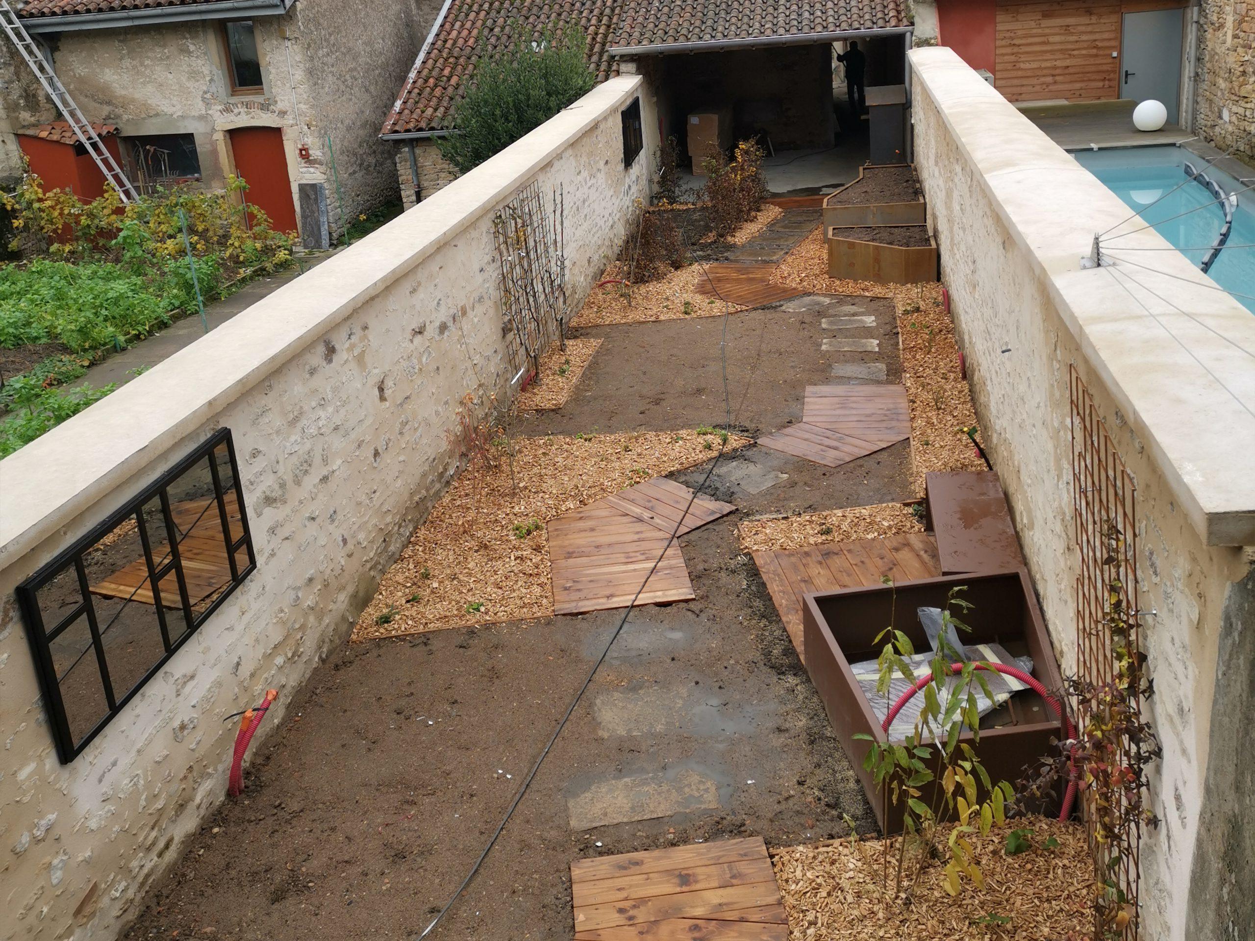 création de jardin avec allée 4