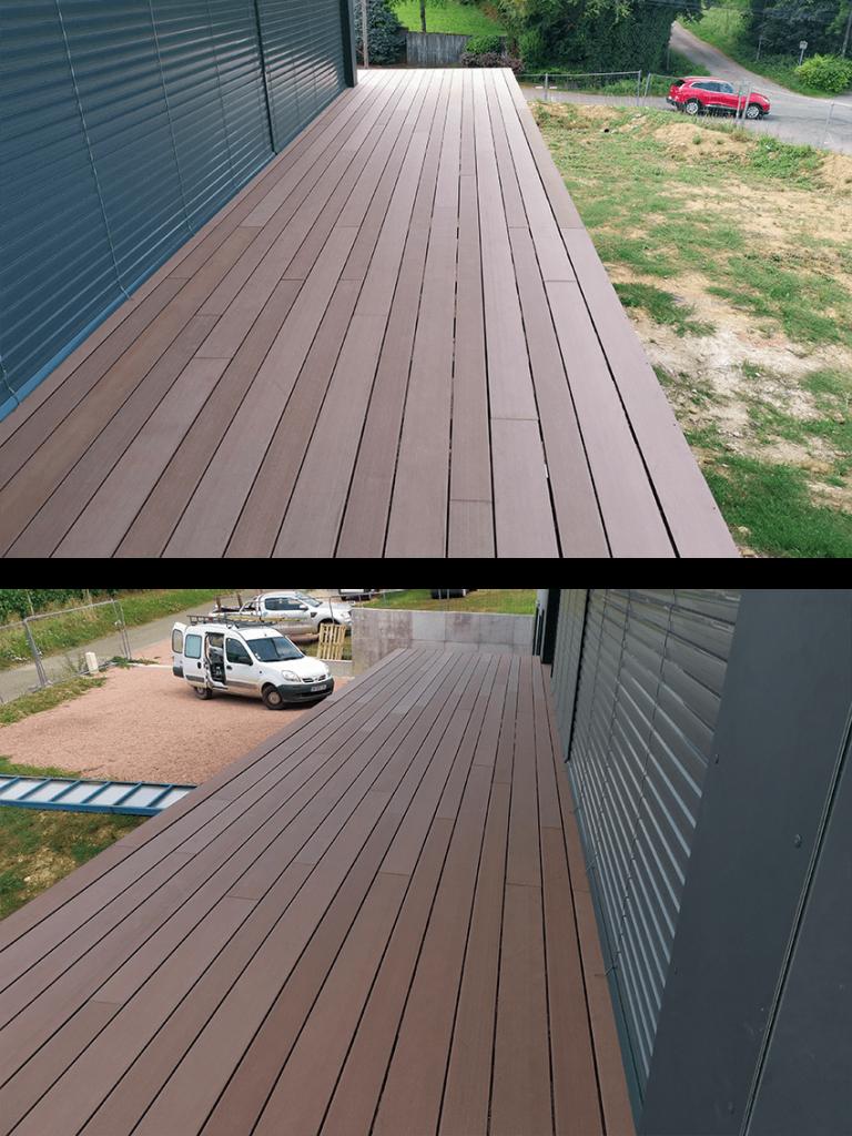 création terrasse en composite à La Roche Vineuse