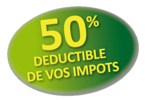déduction d'impots 50%