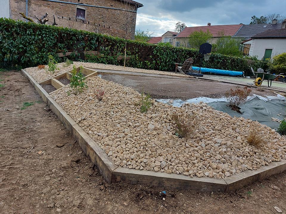 creation jardin sec à Igé en Saône-et-Loire 2